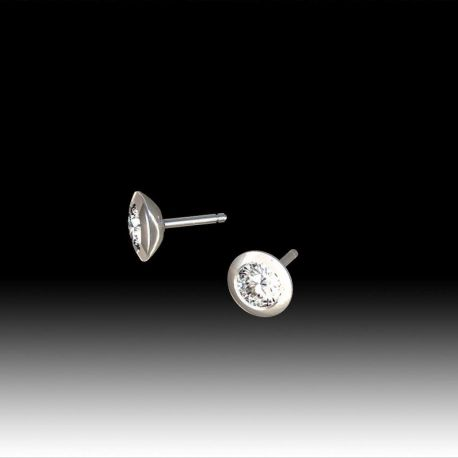 Boucles d'oreilles puce diamants clos