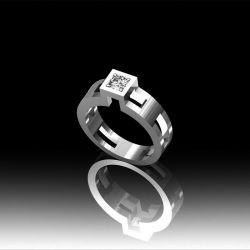 Bague solitaire diamant carré