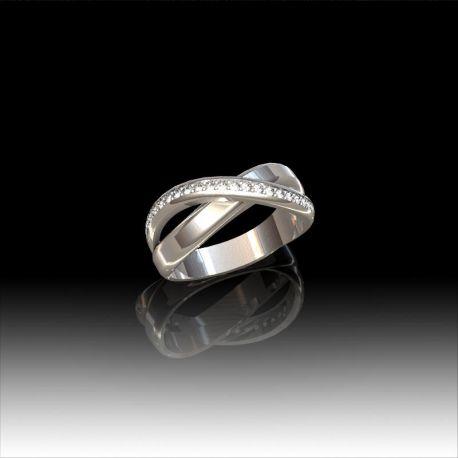 Bague croisée diamants