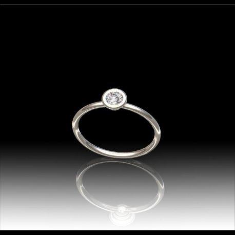 Solitaire fil diamant