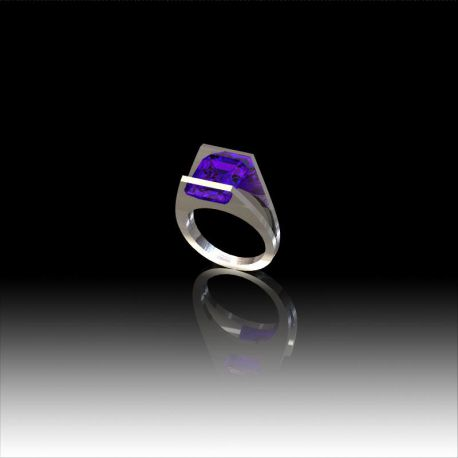 Bague Amethyste tension
