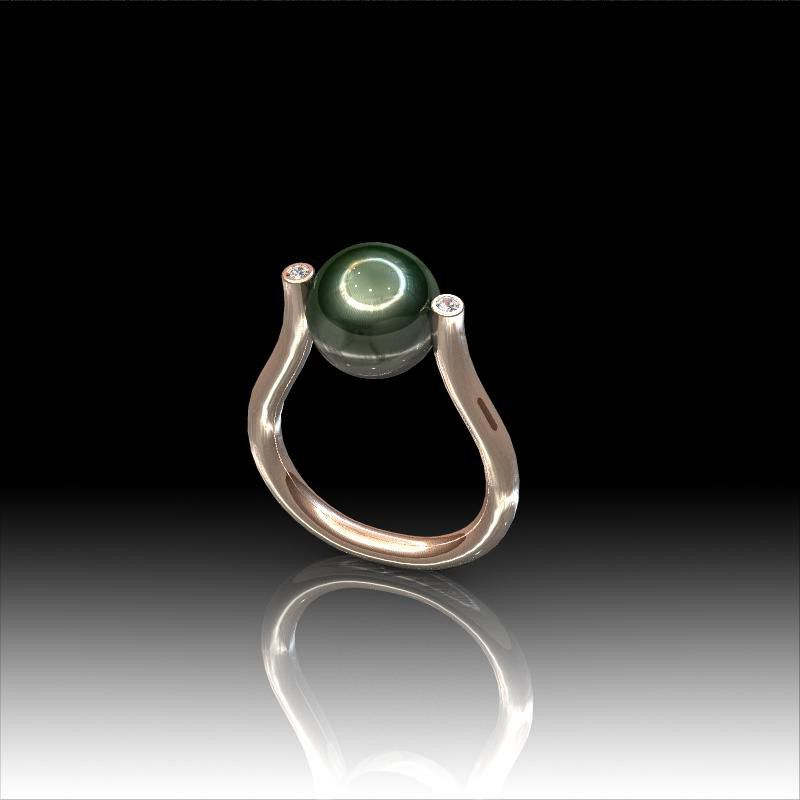 bague perle de tahiti l diamants. Black Bedroom Furniture Sets. Home Design Ideas