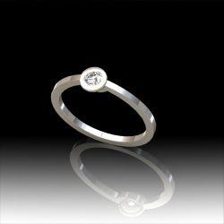 Solitaire diamant serti clos