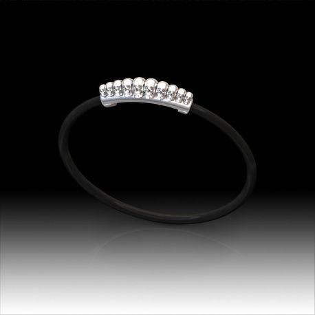 3A004 Bracelet caoutchouc motif tête de mort